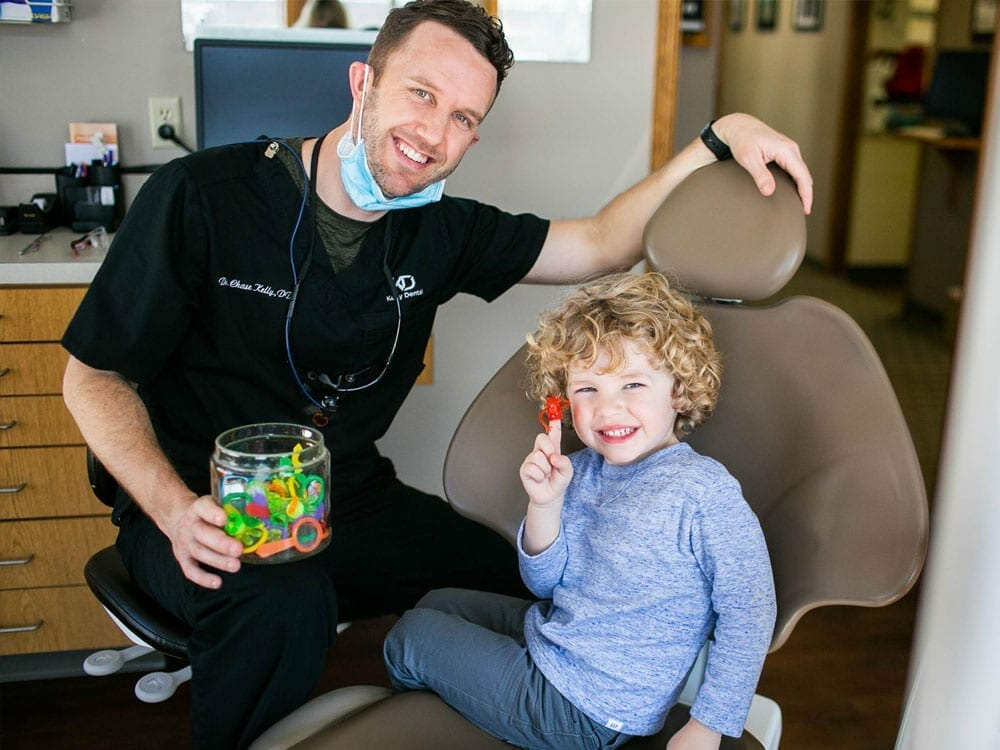 Dr. Kelly with his son - Kelly Dental - Dentist Springfield MO
